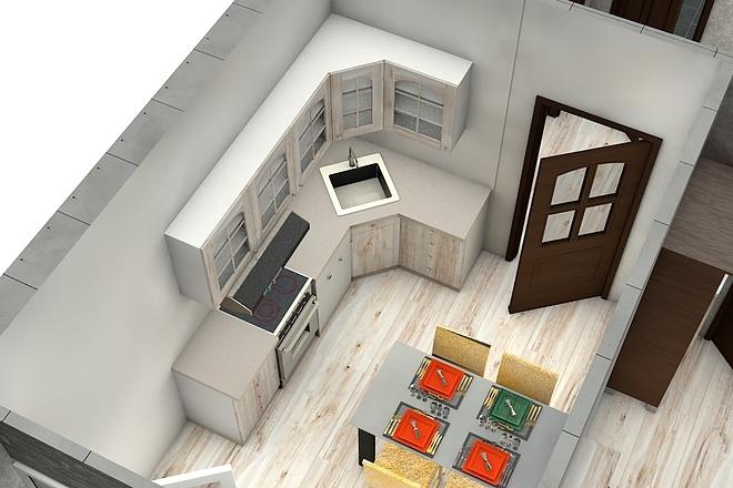 Создам планировку дома, квартиры с мебелью 70 - kwork.ru