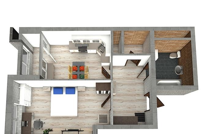 Создам планировку дома, квартиры с мебелью 69 - kwork.ru