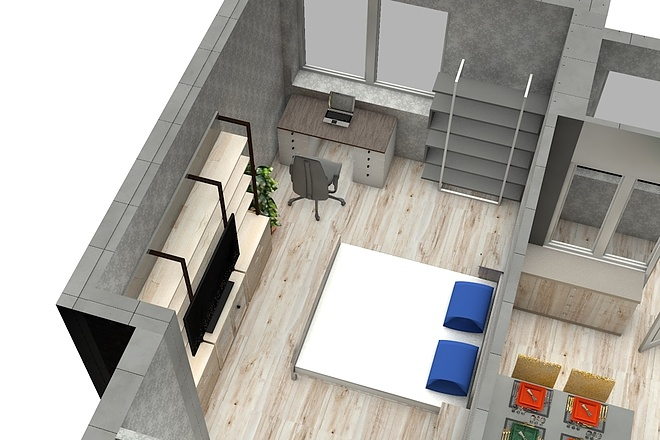 Создам планировку дома, квартиры с мебелью 68 - kwork.ru