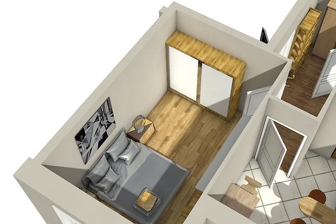 Создам планировку дома, квартиры с мебелью 67 - kwork.ru