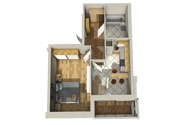 Создам планировку дома, квартиры с мебелью 66 - kwork.ru
