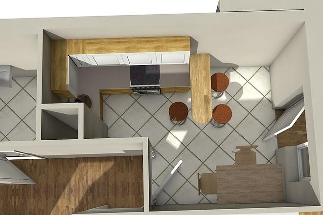 Создам планировку дома, квартиры с мебелью 65 - kwork.ru