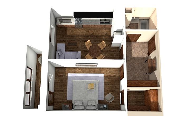 Создам планировку дома, квартиры с мебелью 64 - kwork.ru