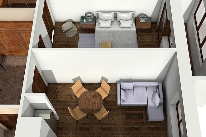 Создам планировку дома, квартиры с мебелью 62 - kwork.ru