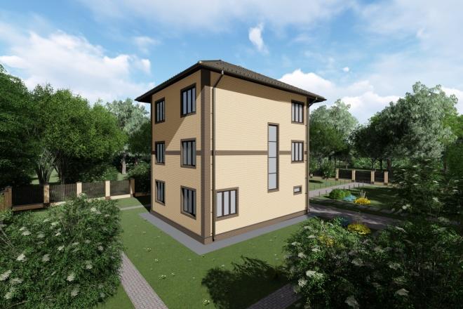 Визуализация экстерьера, фасадов здания 1 - kwork.ru