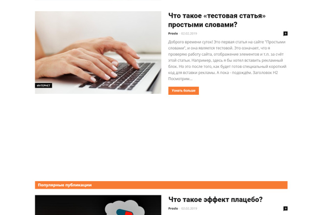 Создам красивый адаптивный блог, новостной сайт 17 - kwork.ru