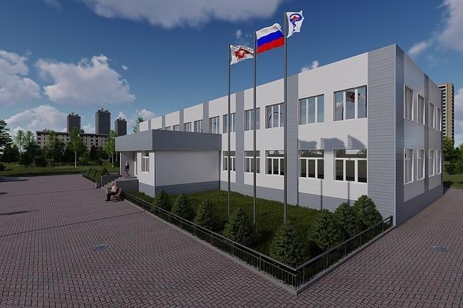 Фотореалистичная 3D визуализация экстерьера Вашего дома 138 - kwork.ru