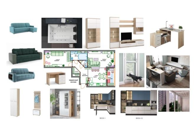 Планировочные решения. Планировка с мебелью и перепланировка 13 - kwork.ru
