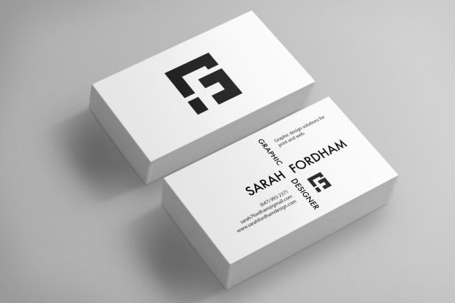 Двусторонняя визитка на Ваш вкус 3 - kwork.ru