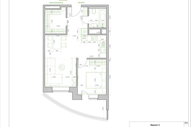 Планировочное решение квартиры, дома. Перепланировка. Планировка 19 - kwork.ru