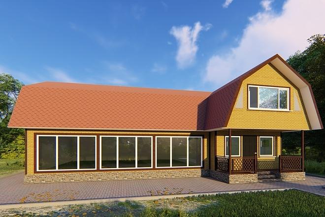 Фотореалистичная 3D визуализация экстерьера Вашего дома 150 - kwork.ru