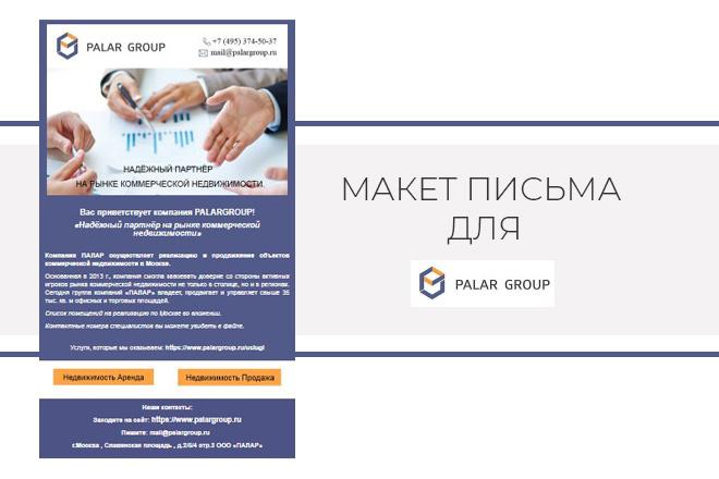 Создам html письмо для e-mail рассылки -адаптация + дизайн 6 - kwork.ru