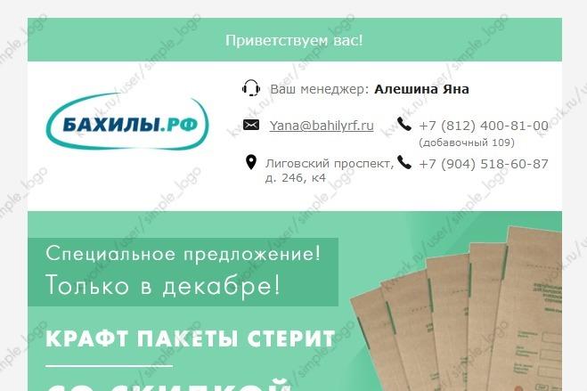 Html-письмо для E-mail рассылки 29 - kwork.ru