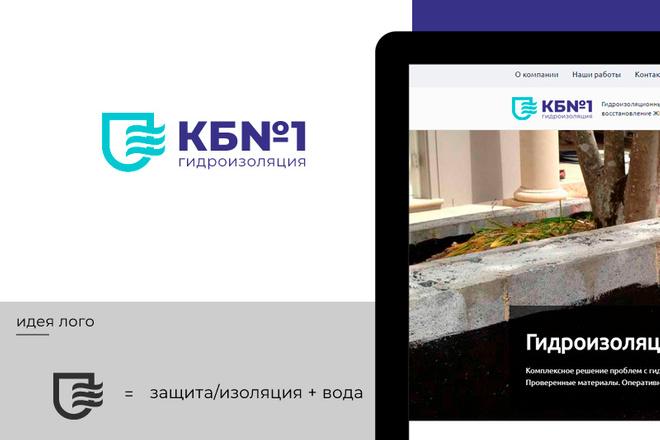 Разработка логотипа для сайта и бизнеса. Минимализм 40 - kwork.ru