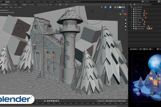 3D Modeling. Создам 3D модель, фигуру, объект, персонажа 7 - kwork.ru