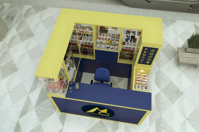 3D моделинг и визуализация торгового острова 5 - kwork.ru