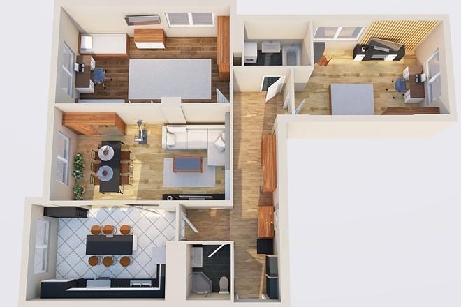 Создам планировку дома, квартиры с мебелью 72 - kwork.ru