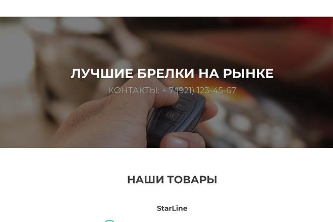 Создание одностраничника на Wordpress 140 - kwork.ru