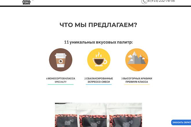 Создание одностраничника на Wordpress 135 - kwork.ru