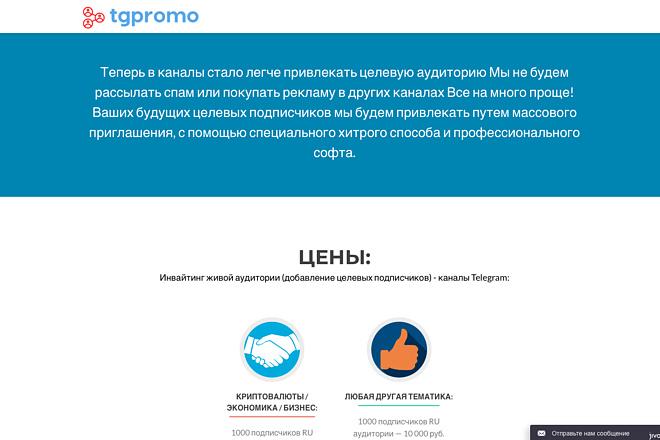 Создание одностраничника на Wordpress 133 - kwork.ru