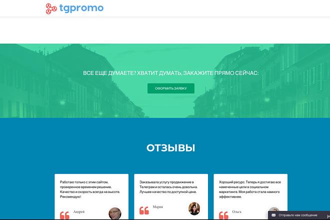 Создание одностраничника на Wordpress 132 - kwork.ru