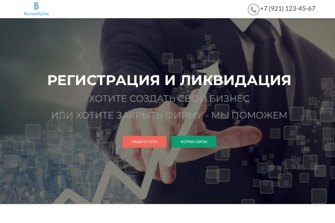 Создание одностраничника на Wordpress 125 - kwork.ru