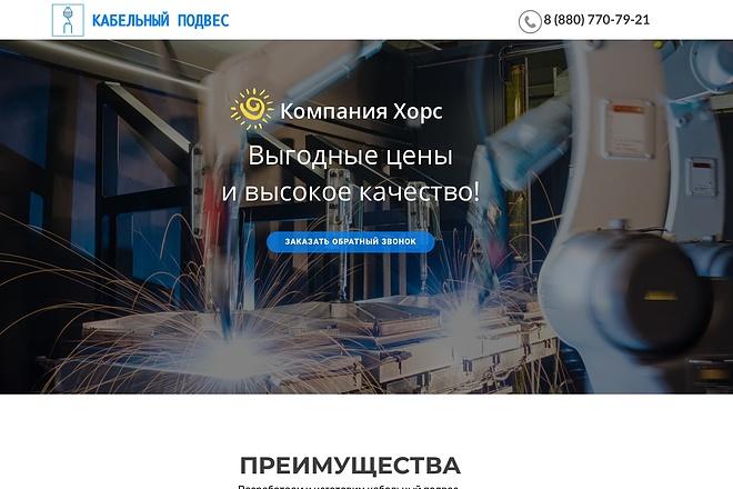 Создание одностраничника на Wordpress 100 - kwork.ru