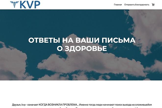 Создание одностраничника на Wordpress 83 - kwork.ru