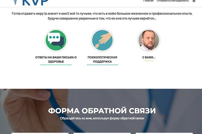 Создание одностраничника на Wordpress 82 - kwork.ru
