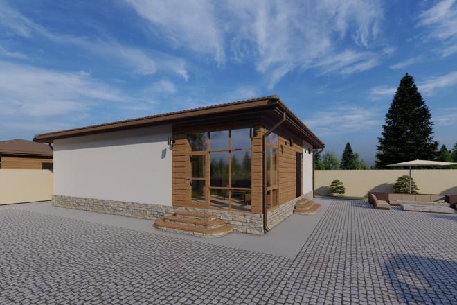 Фотореалистичная 3D визуализация экстерьера Вашего дома 118 - kwork.ru