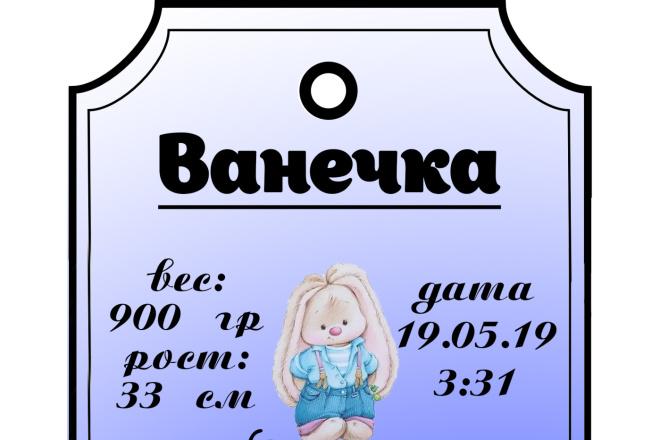 Дизайн метрики и плаката на выписку 1 - kwork.ru