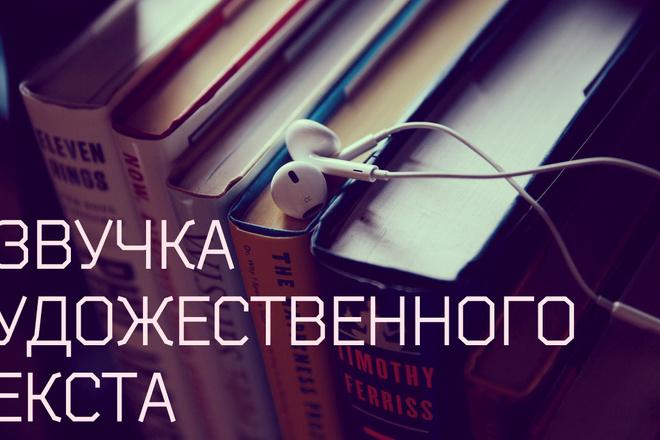 Харизматичная, актерская озвучка художественного текста 1 - kwork.ru