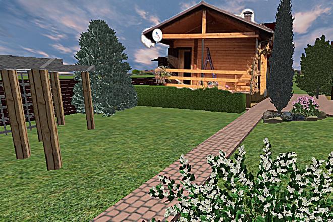 Создам 3D визуализацию ландшафта 5 - kwork.ru