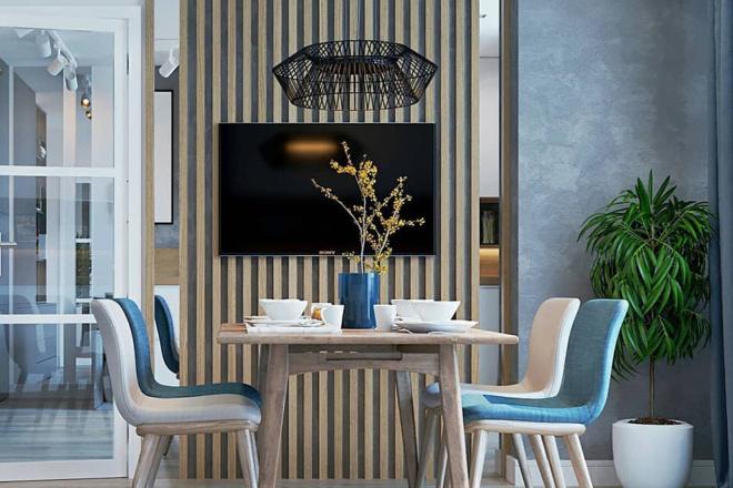 500 идей использования деревянных реек, баффели в интерьере 11 - kwork.ru
