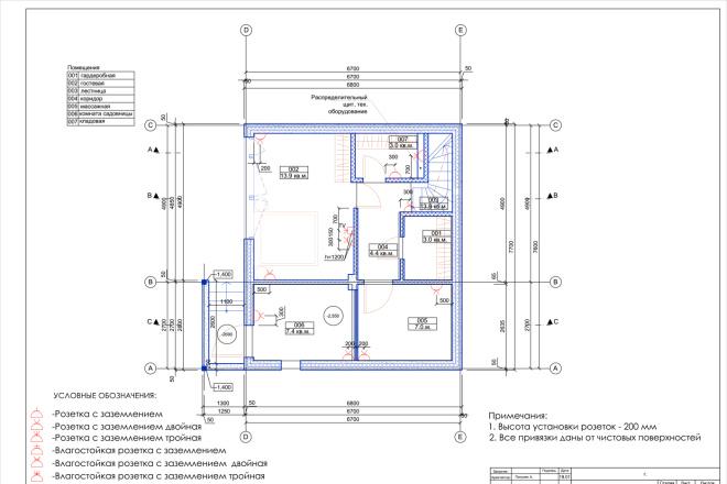Планировка или пакет рабочих чертежей для проекта интерьера 3 - kwork.ru