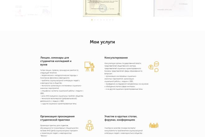 Создание современного лендинга на конструкторе Тильда 5 - kwork.ru