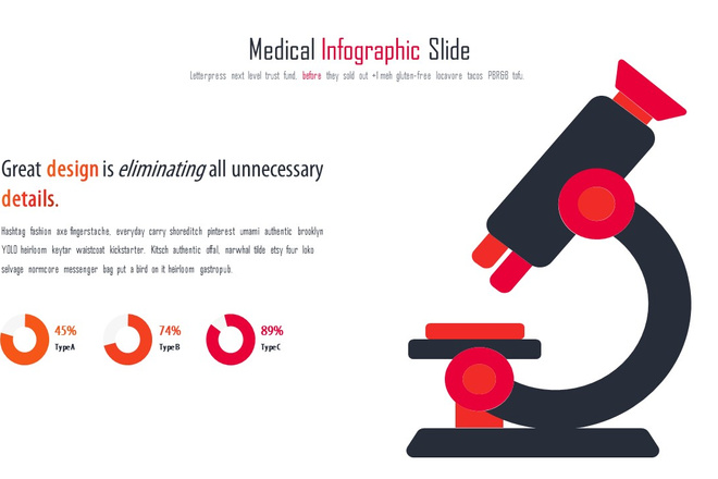 Инфографика на медицинскую тему. Шаблоны PowerPoint 23 - kwork.ru