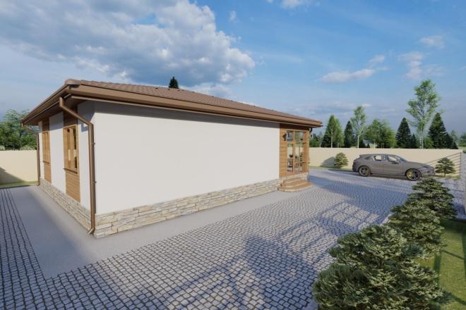 Фотореалистичная 3D визуализация экстерьера Вашего дома 119 - kwork.ru