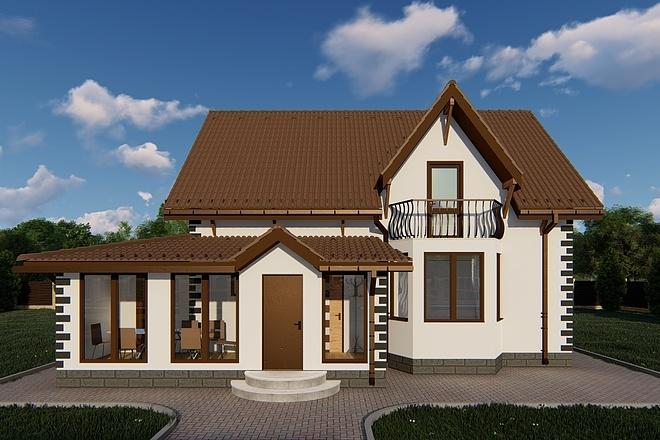 Фотореалистичная 3D визуализация экстерьера Вашего дома 130 - kwork.ru