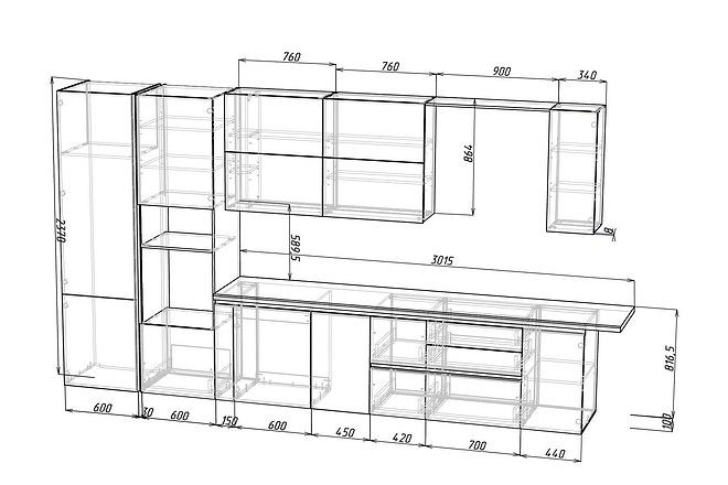 Конструкторская документация для изготовления мебели 62 - kwork.ru