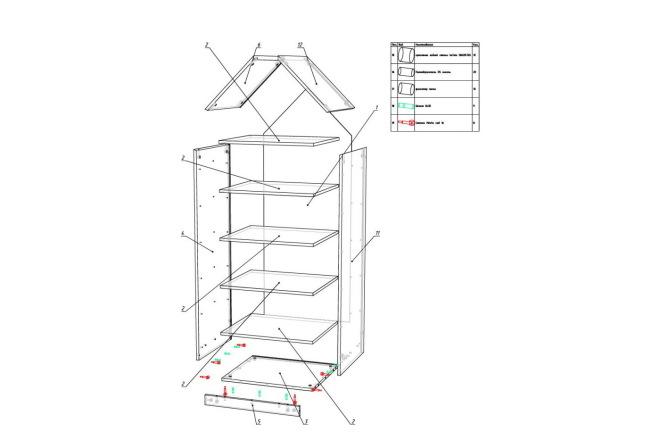 Конструкторская документация для изготовления мебели 45 - kwork.ru