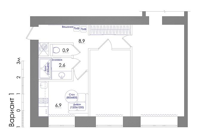 Планировка квартиры или жилого дома, перепланировка и визуализация 13 - kwork.ru