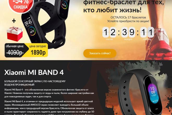 Скопировать Landing page, одностраничный сайт, посадочную страницу 44 - kwork.ru