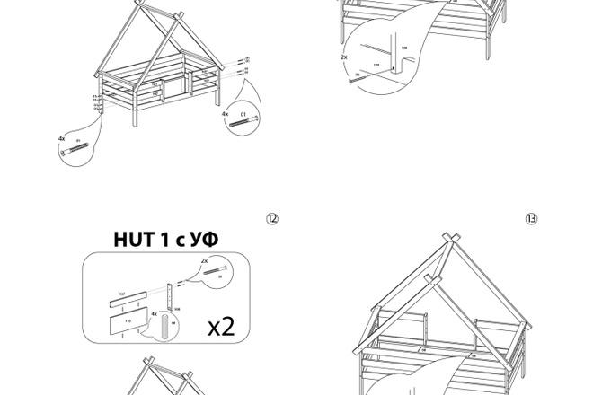 Схема, инструкция сборки мебели 7 - kwork.ru