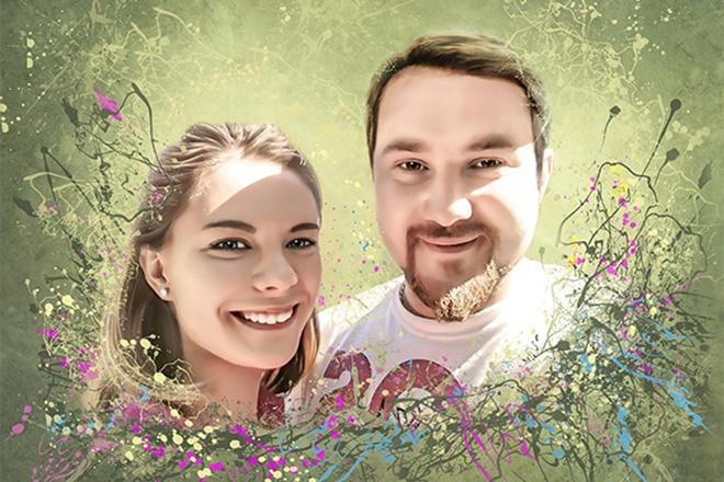 Создам стилизованный цифровой портрет 12 - kwork.ru