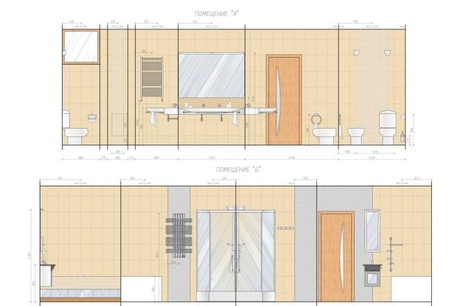 Планировка или пакет рабочих чертежей для проекта интерьера 11 - kwork.ru