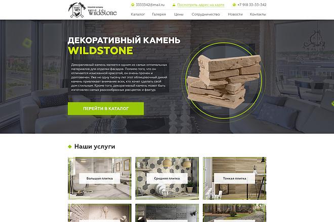Дизайн страницы сайта 91 - kwork.ru