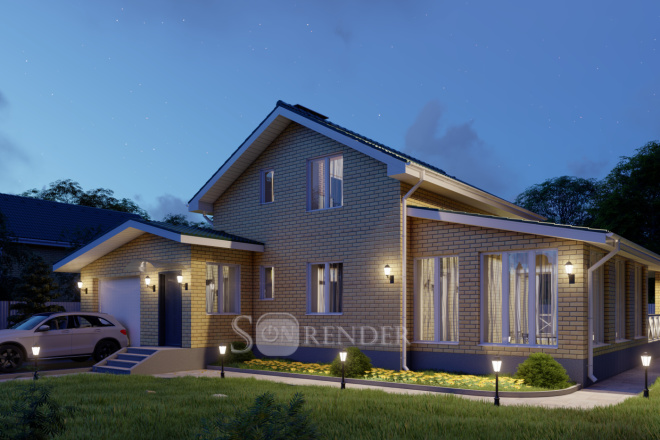 Фотореалистичная 3D визуализация экстерьера Вашего дома 26 - kwork.ru