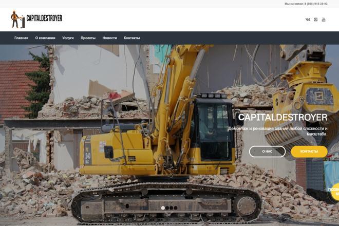 Создам современный адаптивный landing на Wordpress 13 - kwork.ru