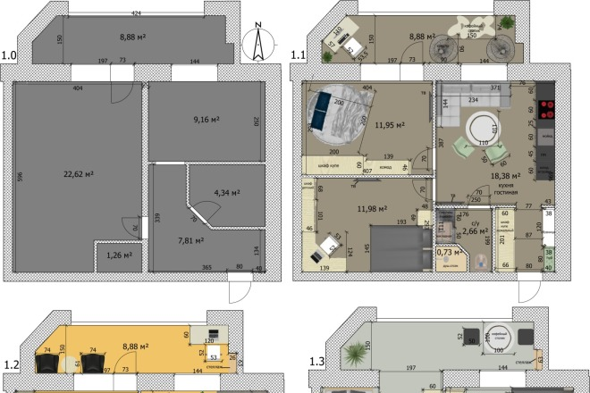 Интересные планировки квартир 28 - kwork.ru